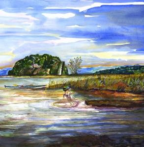Kayaker on the Lake