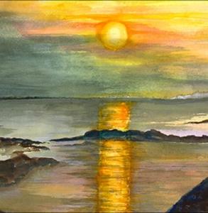 Sunrise at Birch Harbor, Maine