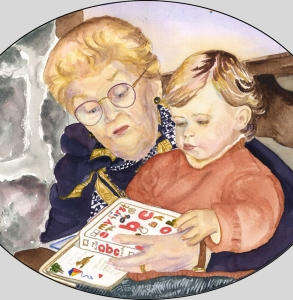 Great-Grandmother-Reading